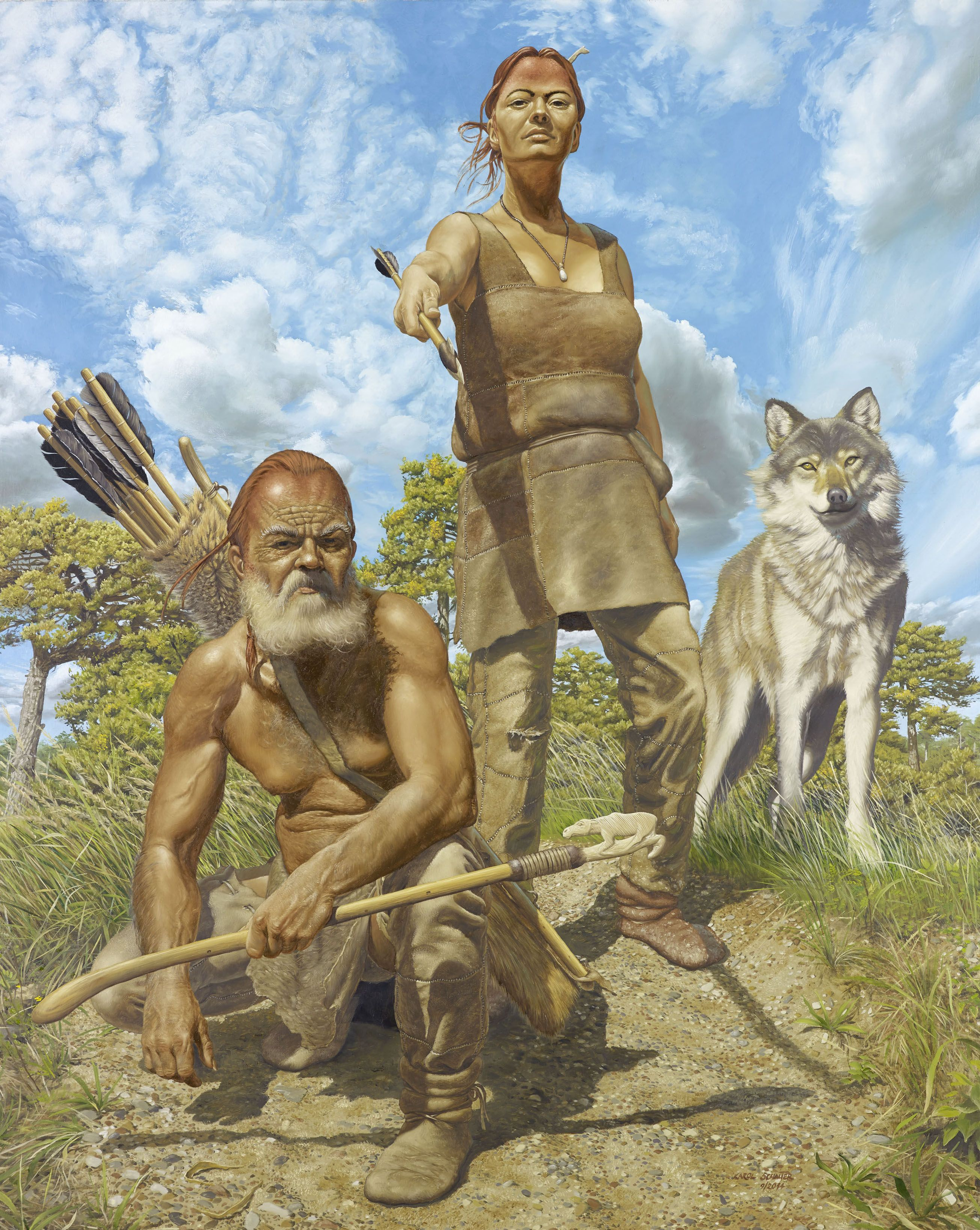 The Ice Age Hunters Of Oberkassel By Karol Schauer