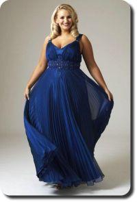 plus size blue Wedding Dresses