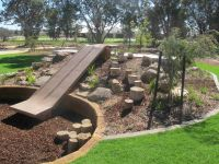 natural playscape with slide | Playscape Ideas | Pinterest ...