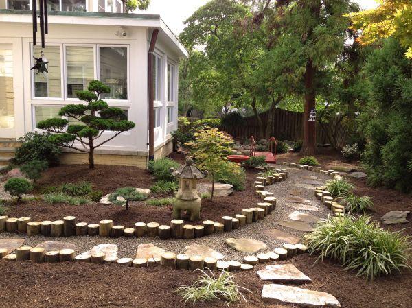 japanese garden. backyard landscape
