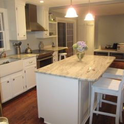 White Kitchen Countertops Tuscan Curtains Valances Cabinets With Granite Diy