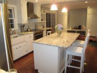 white cabinets with granite countertops | DIY Kitchen ...