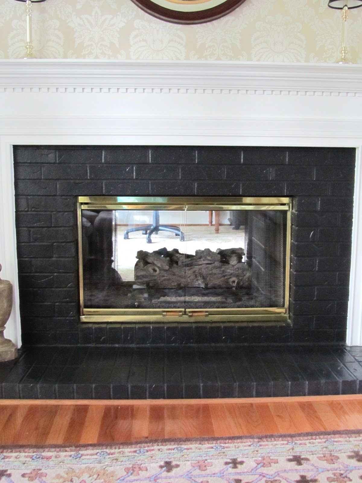 Painting Brick Fireplace Black