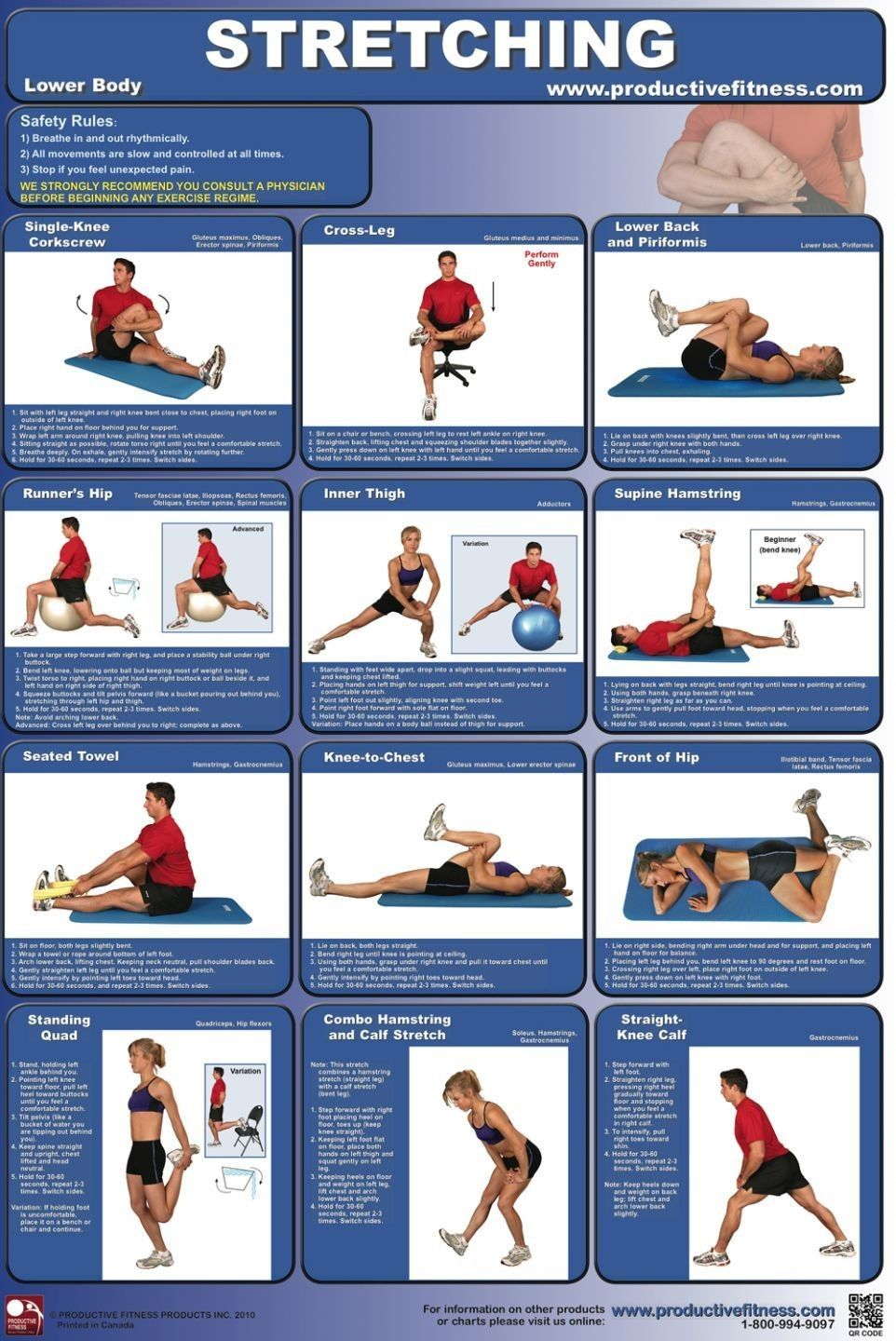 Lower Body Types Stretches