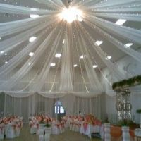 Tulle Ceiling on Pinterest | Wedding Ceiling Decorations ...