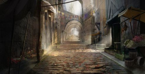 medieval street deviantart fantasy concepting town rpg tirith minas deviant anime artist
