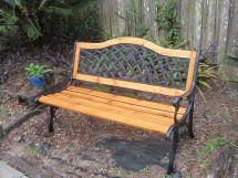 Cast Iron Bench Refurbished. Installed