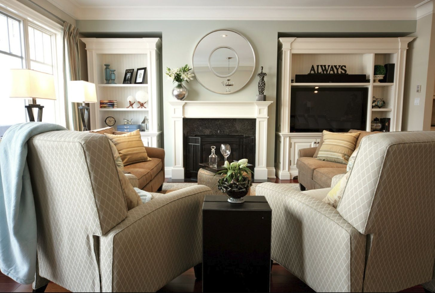 big sofas in small rooms very large sofa pillows living room with two recliners and couches home