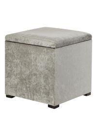 Storage Footstool 40cm x 38cm - Matalan. 25. Mink Grey ...