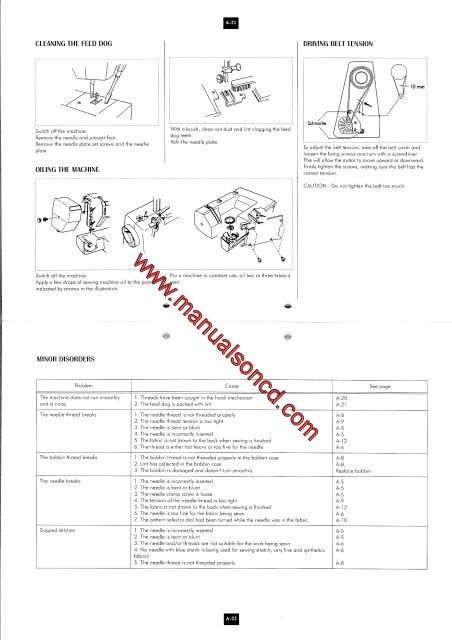 Elna Sewing Machine Manual 2002 – 2004