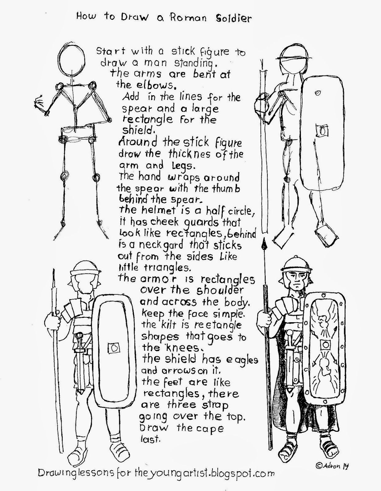 How To Draw A Roman Legion Sol R Worksheet How To Draw Worksheets For Young Artist