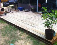 Pallet Wood Deck Plans | Pallet patio decks, Pallet patio ...