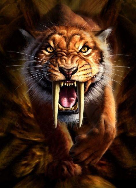 Sabertooth Tiger Skull Tattoos Dead