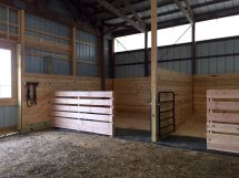 Simple Horse Barn with Stalls Plans
