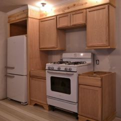 Cheap Ways To Redo Kitchen Cabinets Strainer Refrigerator/range Wall Build Complete (plus Details On My ...