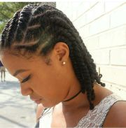 flat twist natural hair styles