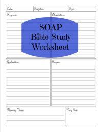 SOAP Bible Study Worksheet | Soap bible study, Worksheets ...