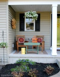 spring front porch. love the little table. | yard work ...