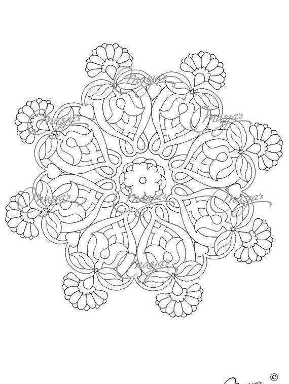 Masja's Mandala set of 3 hand-drawn Coloring by