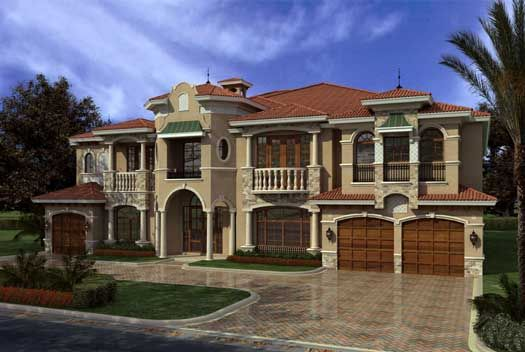 Florida Style House Plans 7883 Square Foot Home 2 Story 7 Bedroom And