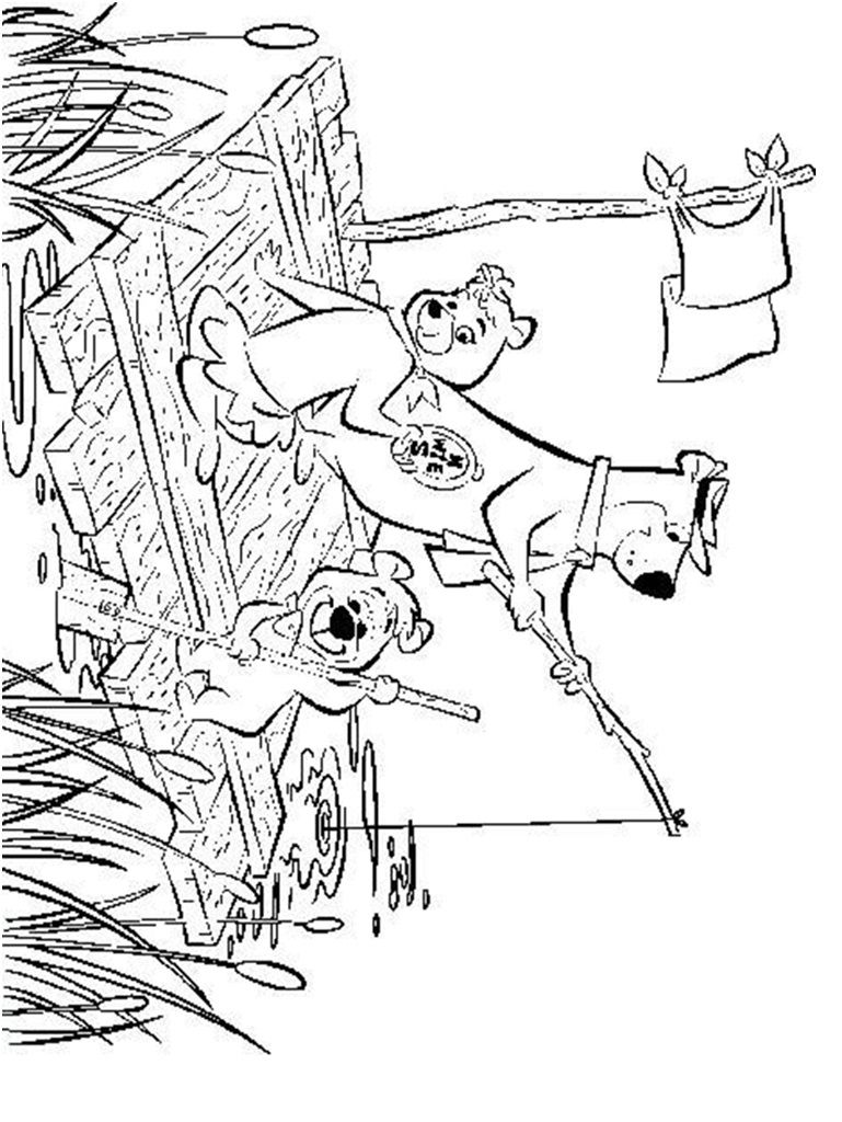 yogi bear and boo boo coloring page  coloring pages and