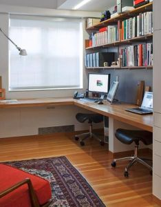space saving office designs with functional work zones for two also rh pinterest