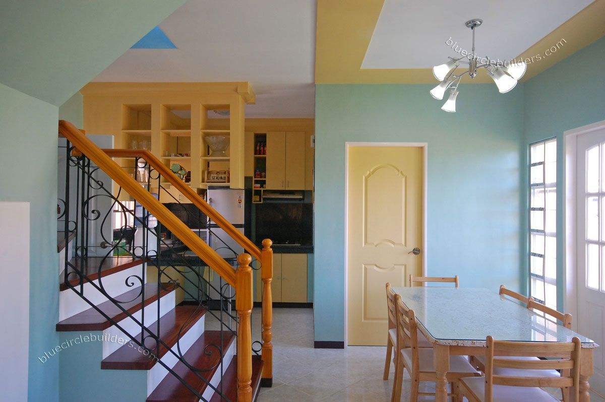 Nice Tiny House Interior Design With Blue Wall Color And Cool
