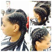 jumbo cornrows natural hairstyle