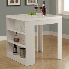 Kitchen Table With Storage Mexican Have To It Monarch White Square Counter Height