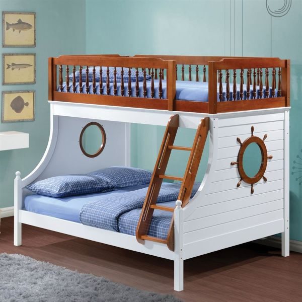 Twin Over Full Bunk Bed Nautical