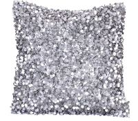 Silver Pillow Cover, One 16 x 16 Decorative Throw Pillow