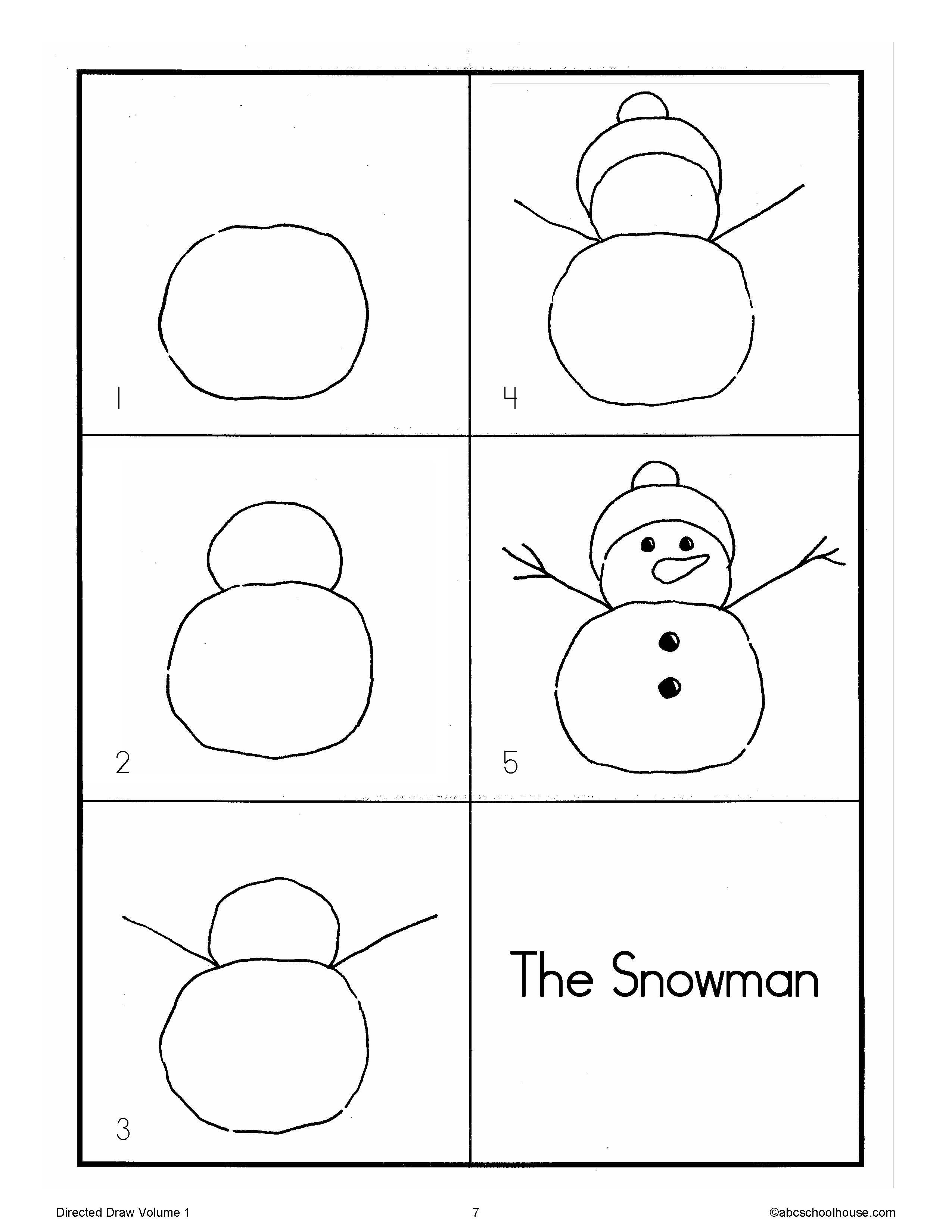 Directed Drawing Snowman
