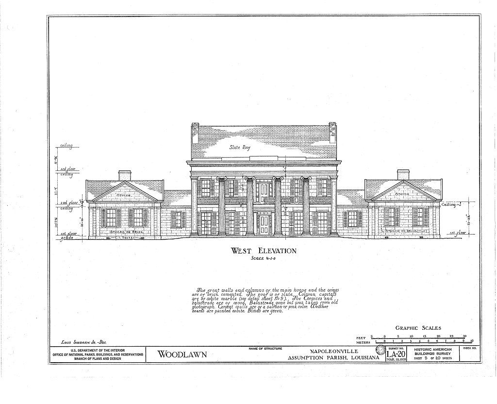 Photos, history, description, and floor plans of Woodlawn