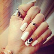 elegant white nail design