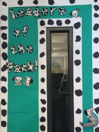 Decorated Classroom door. Dog/Dalmatian theme. | Classroom ...