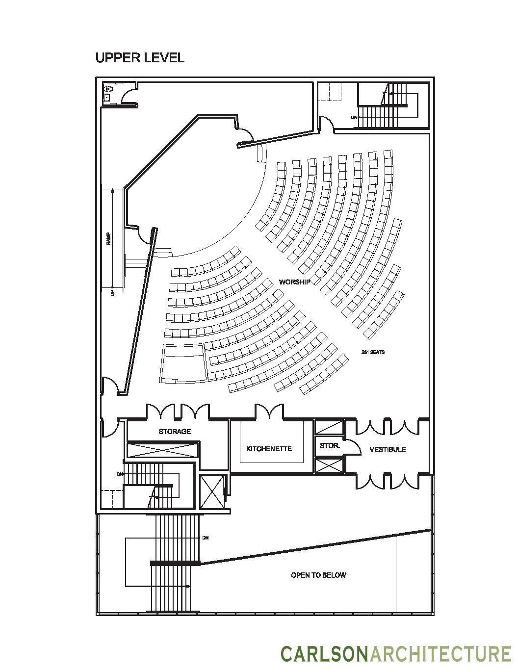 Small Church Floor Plan Church Building Plan