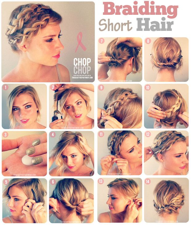 10 Fabulous Hair Tutorials For Short Hair Assembled Updo And
