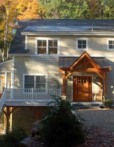 Front side with timber frame entryg also curb appeal pinterest rh