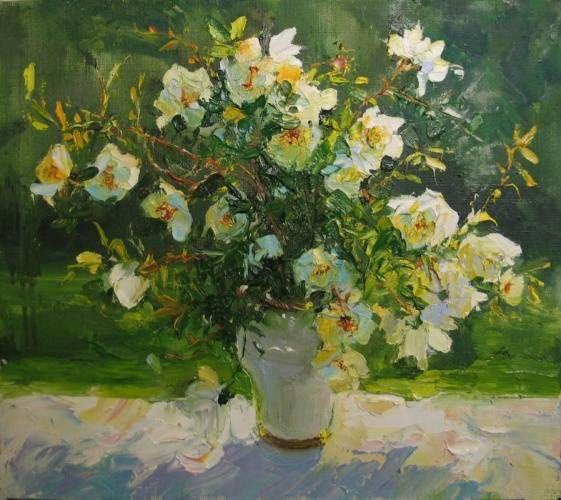 RosesLove the brushstrokes! still life flowers