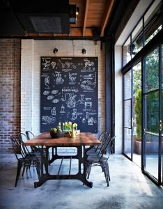 Liking the space and light more than blackboard idea here dream home pinterest concrete floor chalkboards industrial style also rh