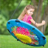 Details about Modern tree swing bungee cord chair round ...