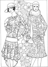 Historical fashion coloring pages | Coloring Pages ...