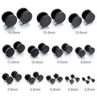 Men,Women's 3mm Stainless Steel Studs Earrings Black ...