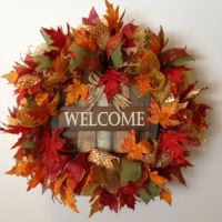 Fall Deco Mesh Wreath Welcome Fall Wreath by ...