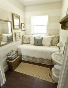 Double duty guest rooms  love the striped wall can   wait to be able use that in  house someday also home improvement ideas and tricks for you click on image rh pinterest