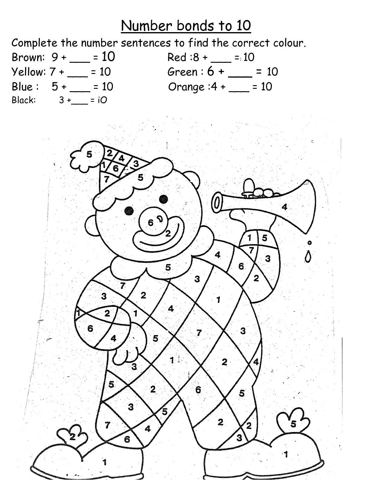 The Number Bond Worksheet For Grade 3