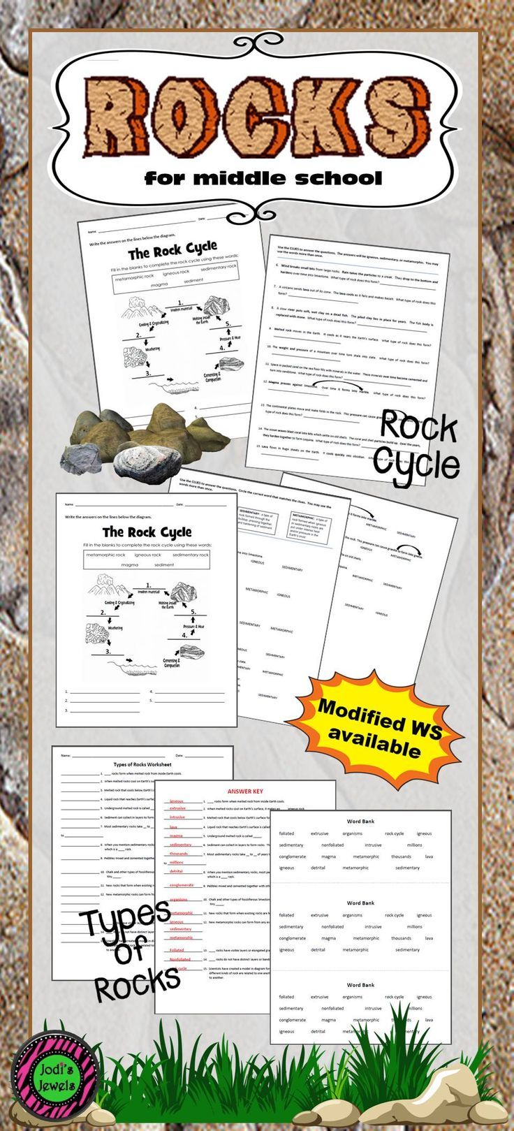 Dd W Ksheets Bout Types Of Rocks Nd Rock Cycle To Your