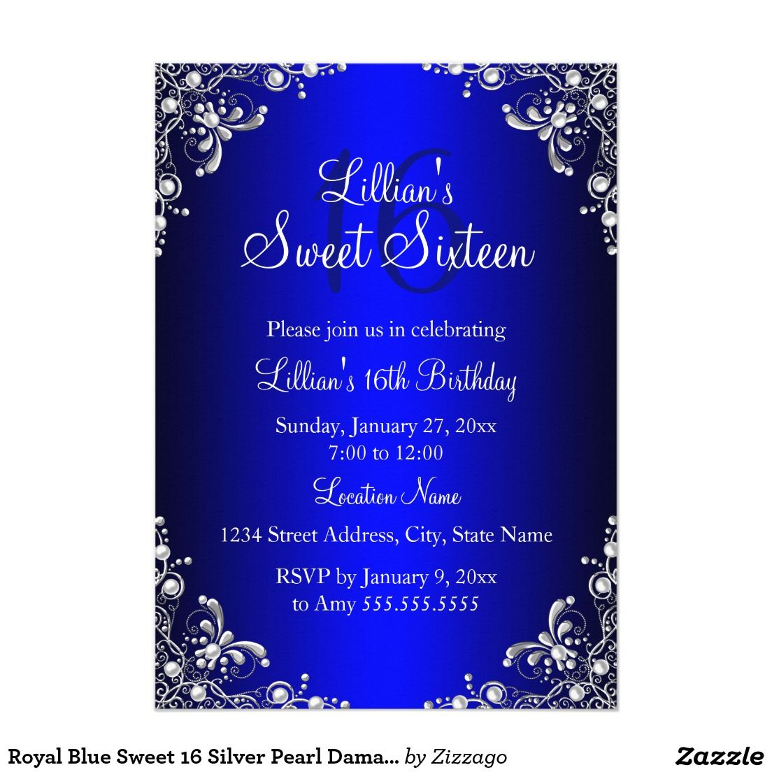 Cheap Navy Blue Wedding Invitations