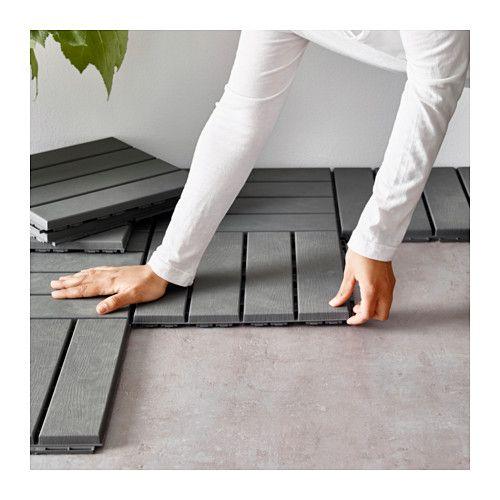 RUNNEN Floor decking outdoor gray  Decking Balconies