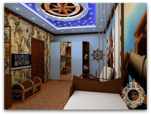 Pirate room decor wall mural chest also rh pinterest